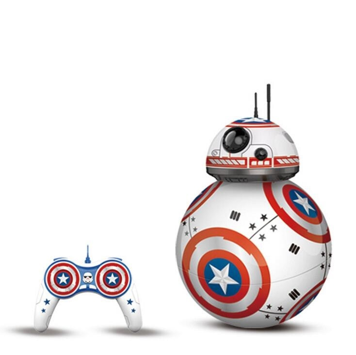 Star Wars Bb8 Robot Droid Toy Action Figure 2.4g Remote Control Sound Toy Gift